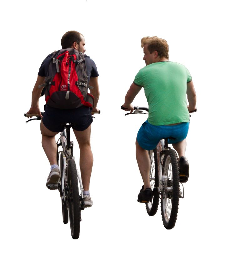 cyclists cutout png