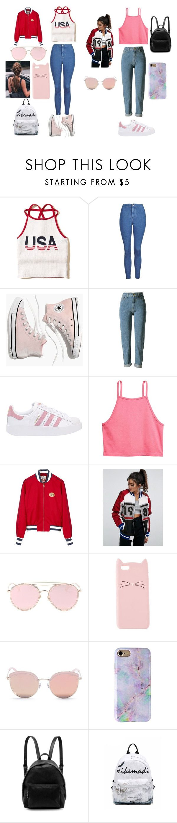 """""""FASHIONS new 2017"""" by karlabelenromanjara on Polyvore featuring Hollister Co., Topshop, Madewell, WithChic, adidas Originals, Tommy Hilfiger, ASOS, LMNT, Charlotte Russe y Stephane + Christian"""
