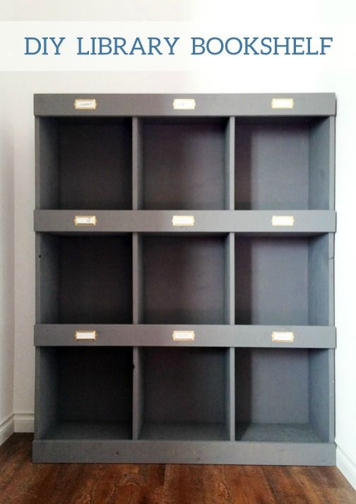 create a way to organize your home office or library with this diy bookshelf