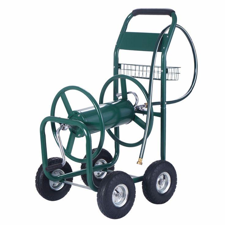 Carro del carrete de jardin 1,8m manguera Carro agua con Cesta Ruedas inflables GT2929