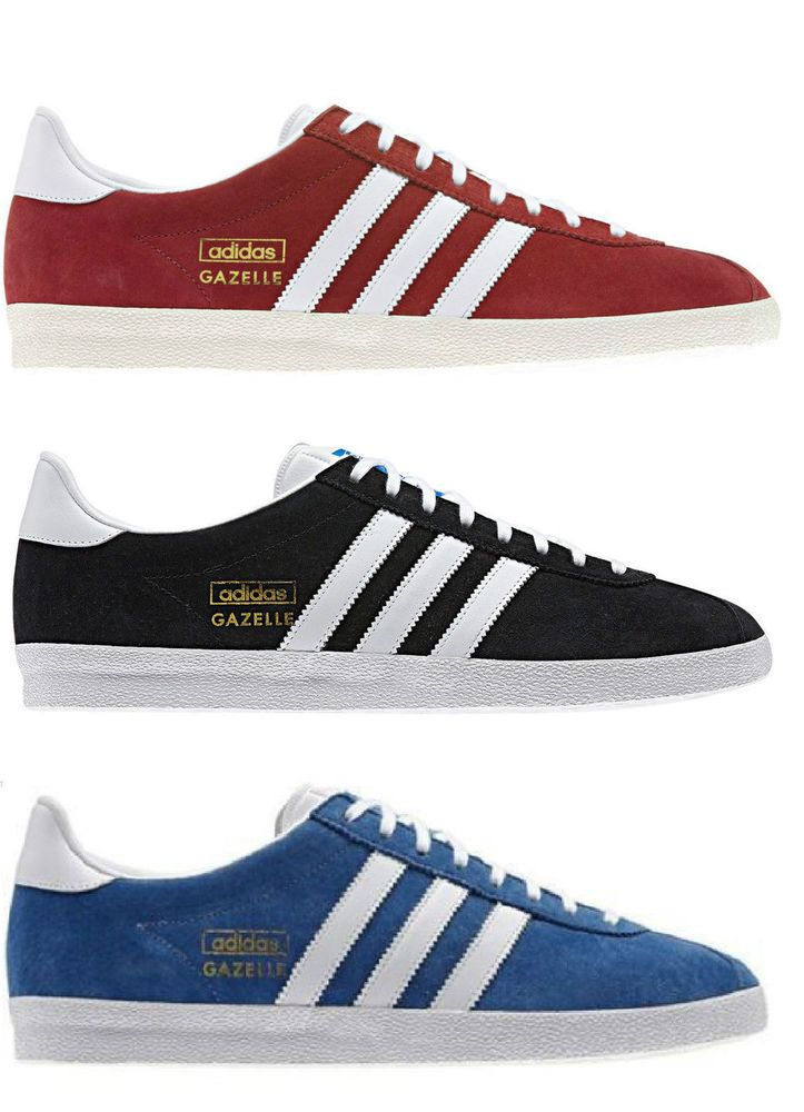 Adidas Gazelle OG Trainers Sneakers Shoes Originals Suede Blue Red Black