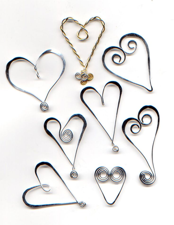 Wire Hearts Tutorial from WireWorkers Guild.blogspot.ca