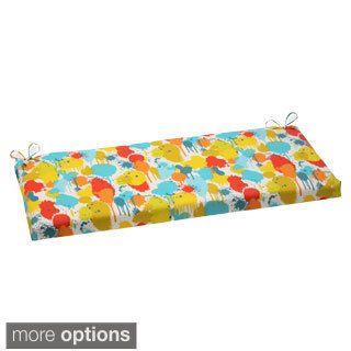 Pillow Perfect Paint Splash Outdoor Bench Cushion