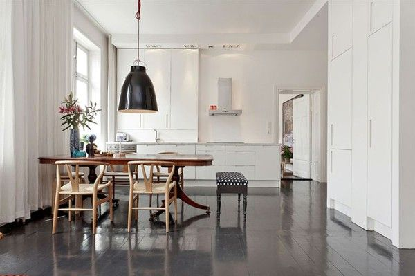 Stockholm home, belonging to Art Director Pelle Lundquist