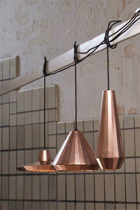 Tendência no décor: pendentes de cobre