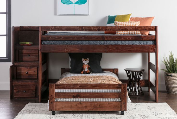 Sedona Junior Loft Bed W/Tw Caster Bed & Jr Stair Chest - 360