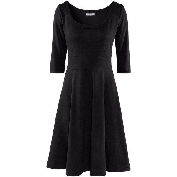 H and m jersey dress black
