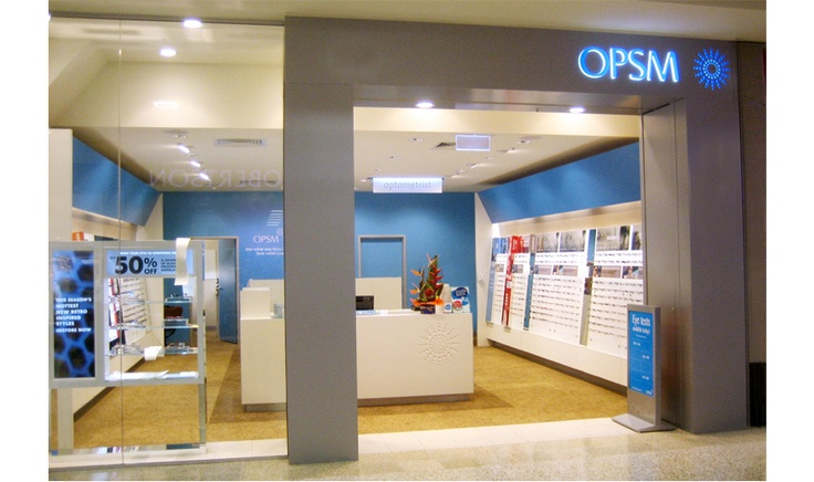 Shopfront Corporate Signage for OPSM by Singleton Moore Signs www.smsco.com.au using illuminated bulkhead lettering