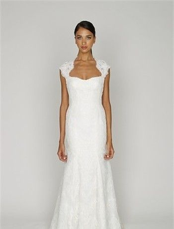 Bliss by Monique Lhuillier - Sweetheart Sheath Gown in Alencon Lace