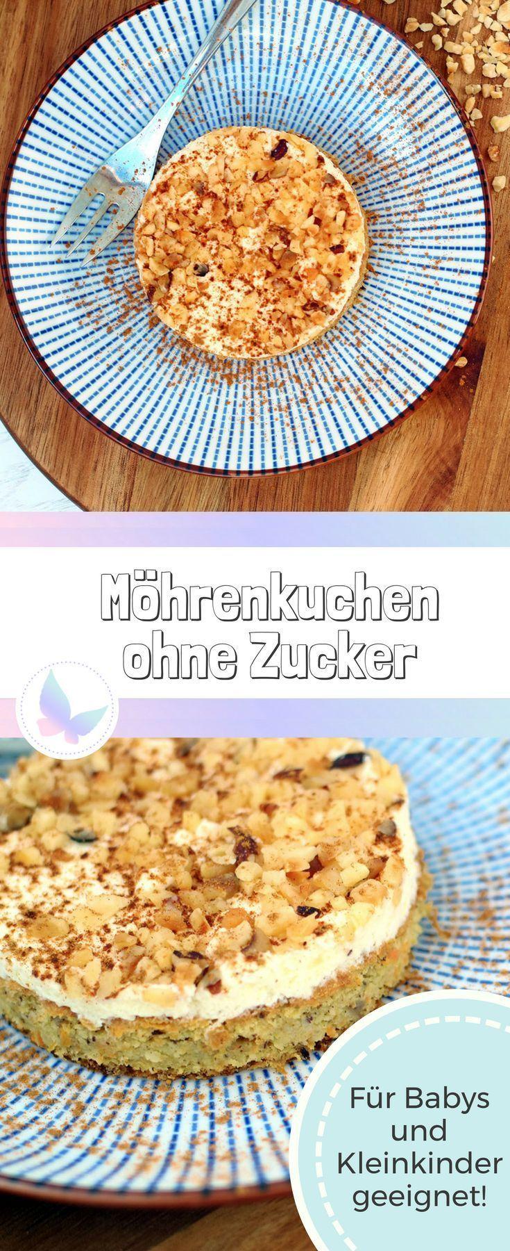 Rezept für einen Karottenkuchen ohne Zucker BLW geeignet # zuckerfrei #BLW   – Zuckerfrei Backen | Kuchen Muffins Torten | gesunde Rezepte