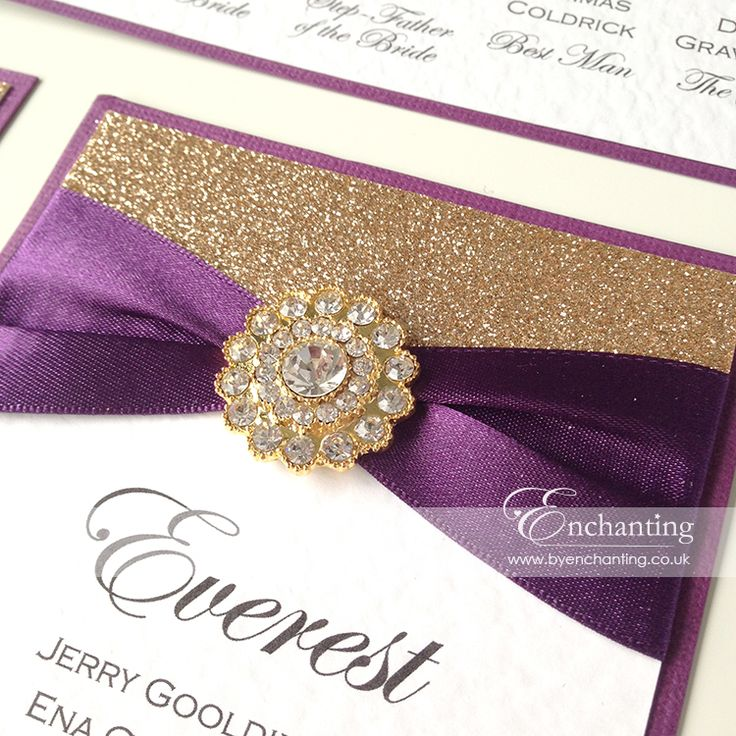 16 best Purple and Gold Wedding Stationary images on Pinterest ...