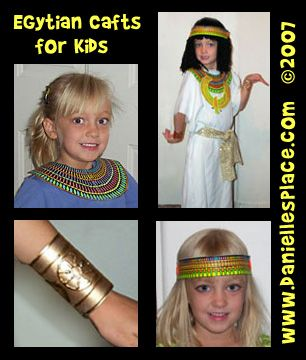 Egyptian Crafts and Learning Activities for Children from www.daniellesplace.com