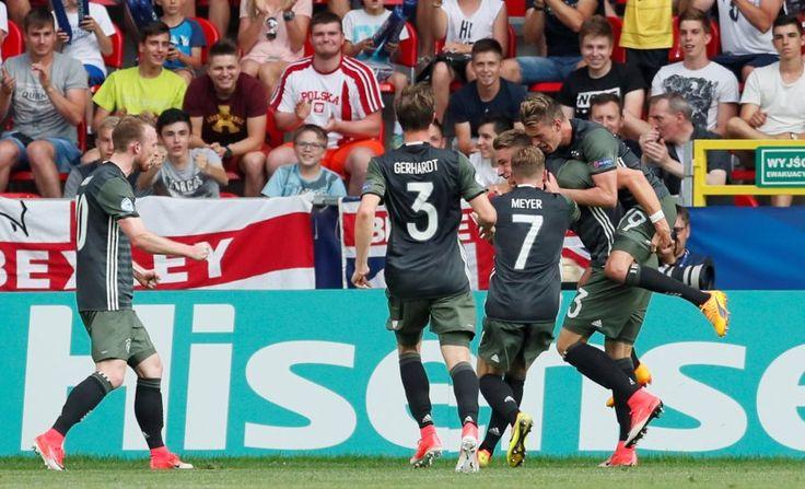 U21-EM 2017: Halbfinale- Deutschland - England 2:2/4:3- Platte mit dem Ausgleich zum 2:2