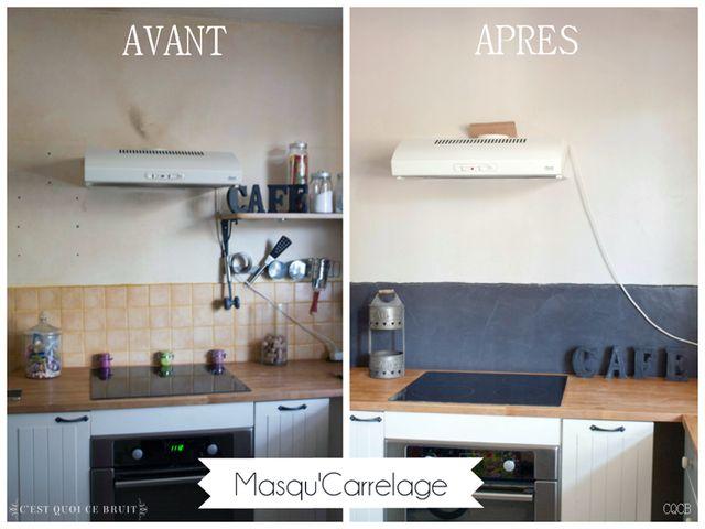 On a repeint la cuisine au Masqu'Carrelage ! (avant/après)