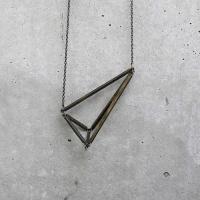 geometric: Triangles Necklaces, Awesome, Design Art, Geometric Design, Art Jewelry, Jewelz, Accessories, Necklaces Dotoverdot, Geometric Necklaces
