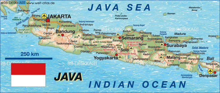 Map of Java (Indonesia)