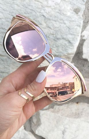 rose gold sunglasses, Candy Sunnies