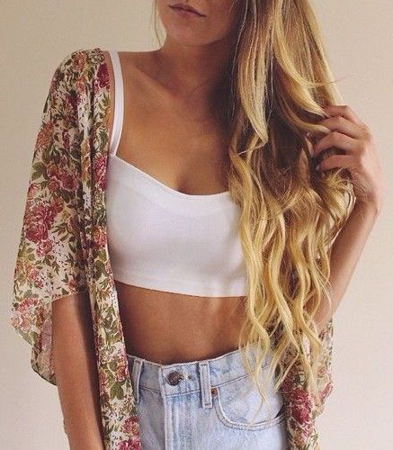#summer #fashion / crop top + floral