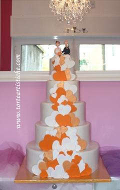 Torta di matrimonio arancione