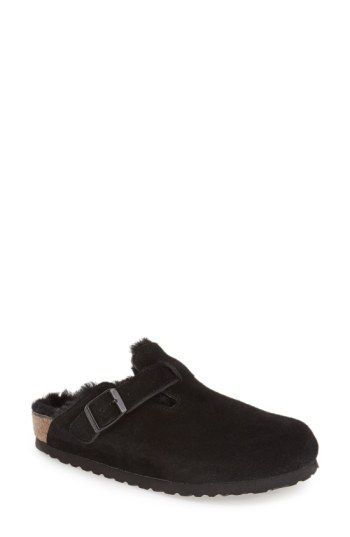cf1b4dee03c Free shipping and returns on Birkenstock  Boston  Genuine Shearling Lined  Clog (Women) at Nordstrom.com. A classic suede clog gets a cozy update with  ...