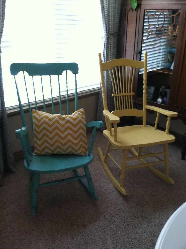 Vintage thrift store rocker redo   furniture remake ideas ...