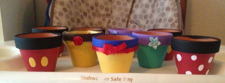 Disney inspired flower pots.