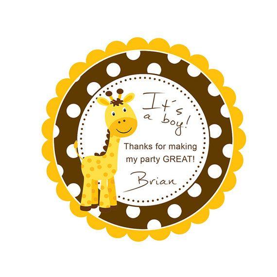 Baby Shower Giraffe 2 PRINTABLE Party Circles by ByYolanda on Etsy, €4.20