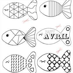 poissons d'avril print printable babayaga magazine