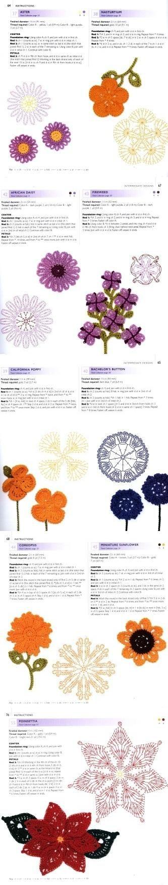 93 Best Horgolt Virgok Images On Pinterest Crocheted Flowers