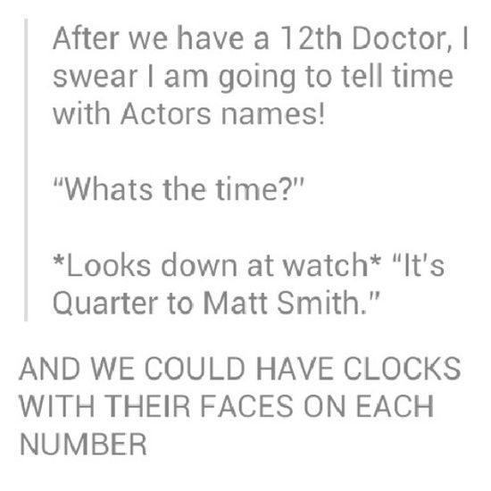 IT'S DOCTOR WHO TIME!