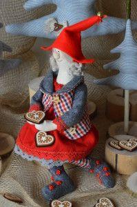 skrzaty, elfy, lalka tilda, boże narodzenie, zabawki, ozdoby na choinkę, rękodzieło, lalki artystyczne