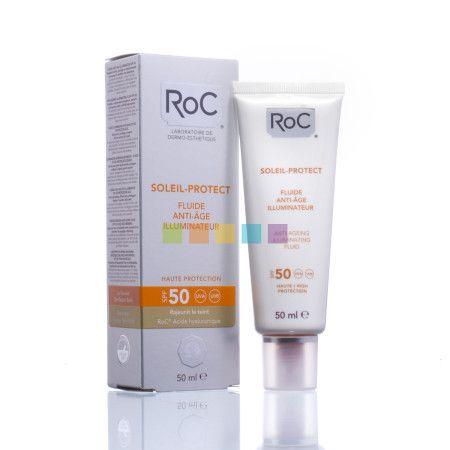 RoC Soleil-Protect Verhelderende Anti-Aging Fluid Factor 50 | 50 ml beschikbaar bij je online apotheek pharmamarket