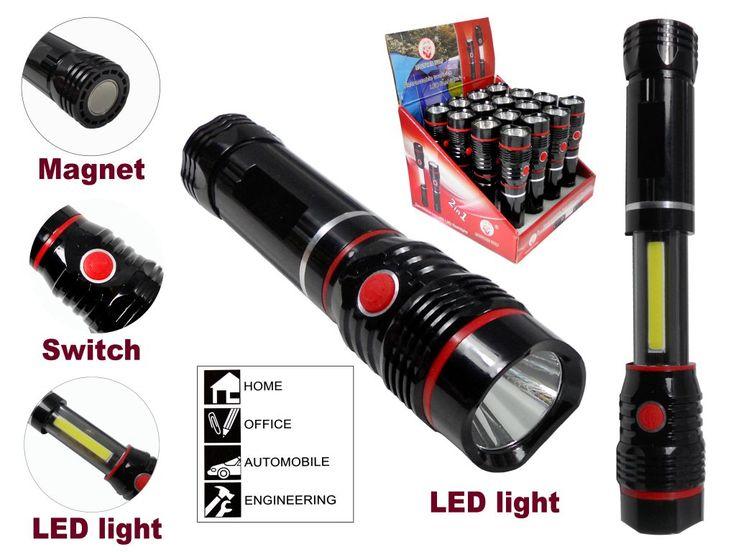 LATARKA 2w1 CREE Q5 LED + COB LED ROZCIĄGANA