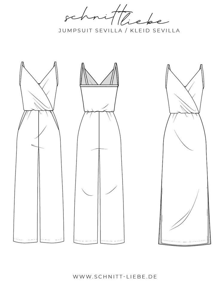 Schnittmuster Jumpsuit & Kleid Sevilla