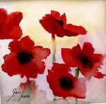 Poppies.  Watercolour