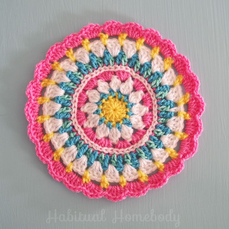 What's on my hook: A mandala #crochet Link to free pattern in post.