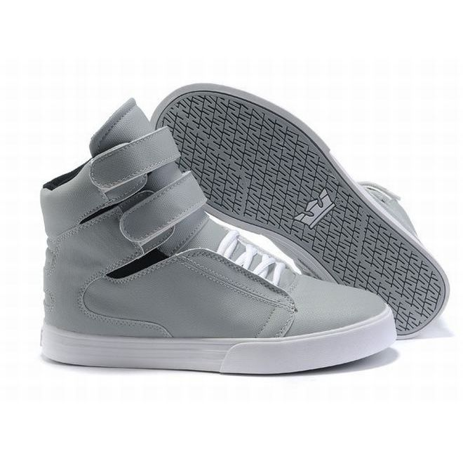 Supra TK Society High Tops Litter Grey/White Women's