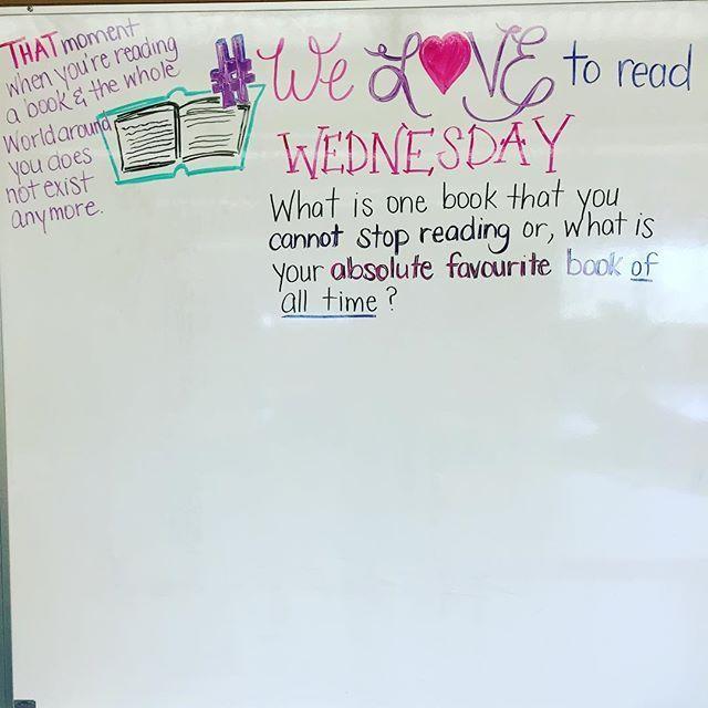 #welovetoread Wednesday. Tell me friends, what are your MUST READS? #miss5thswhiteboard #iteach7th #iteachtoo #teachersofinstagram #teachersfollowteachers
