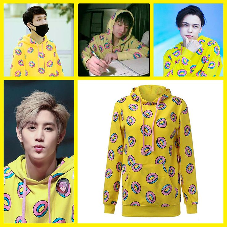 GOT7 Mark Yellow Donut Sweater Hoodie - Fashion Clothing
