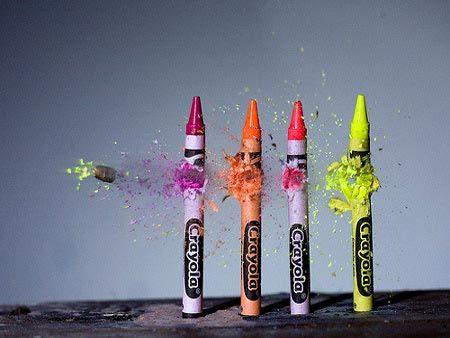 Crayons meet bullet