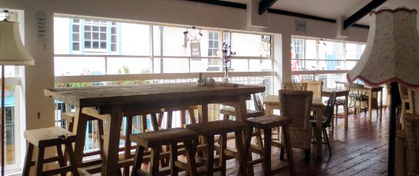The Loft Restaurant, Sidmouth. Serves delicious food, much of which is Gluten Free, in a light and airy rustic environment overlooking Old Fore Street. It is listed as one of the top 100 restaurants outside London. Dogs are welcome on the outside terrace which is open during good weather.
