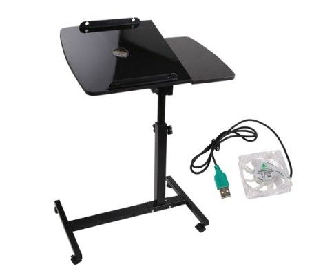 This 360° rotating mobile Laptop Stand with USB Cooler can turn anywhere you want into an instant workplace.  http://www.rosaelonline.com.au/product/rotating-mobile-laptop-adjustable-desk-with-usb-cooler-black/