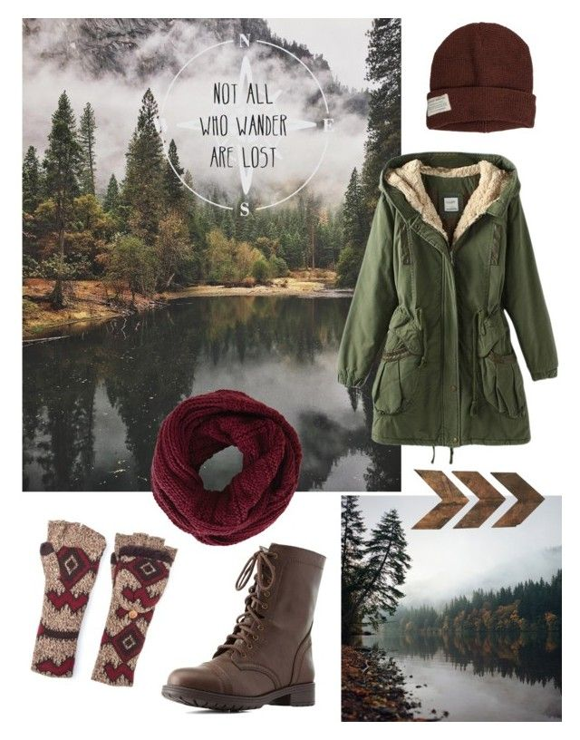 """""""Not all who wander are lost"""" by gardenofroses on Polyvore featuring Krochet Kids, Muk Luks, BCBGMAXAZRIA, Charlotte Russe and WALL"""