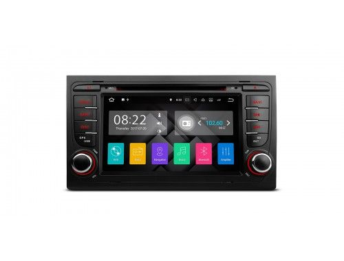 """PA77AA4P - 7"""" HD Digital Touch Screen Android 7.1 Quad-Core 16GB + DDR3 2G RAM HDMI Car Stereo Custom Fit for Audi A4 