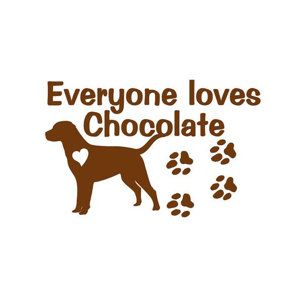 Chocolate Labrador Retriever Dog Vinyl Decal Wall Sticker