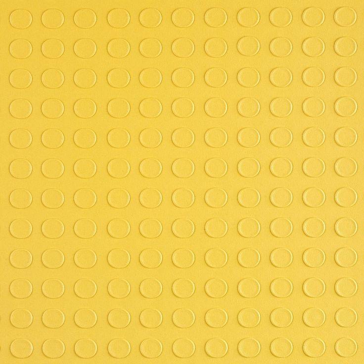 Piso de Borracha Pastilhada em Manta 4,5mm x 80cm (m²) Amarelo