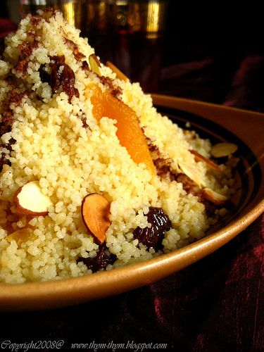 Cous Cous with dried fruit