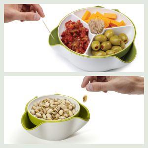 Snack skål med opbevaring til skrald, sten og skaller. Læs mere om produktet på frubruun.dk