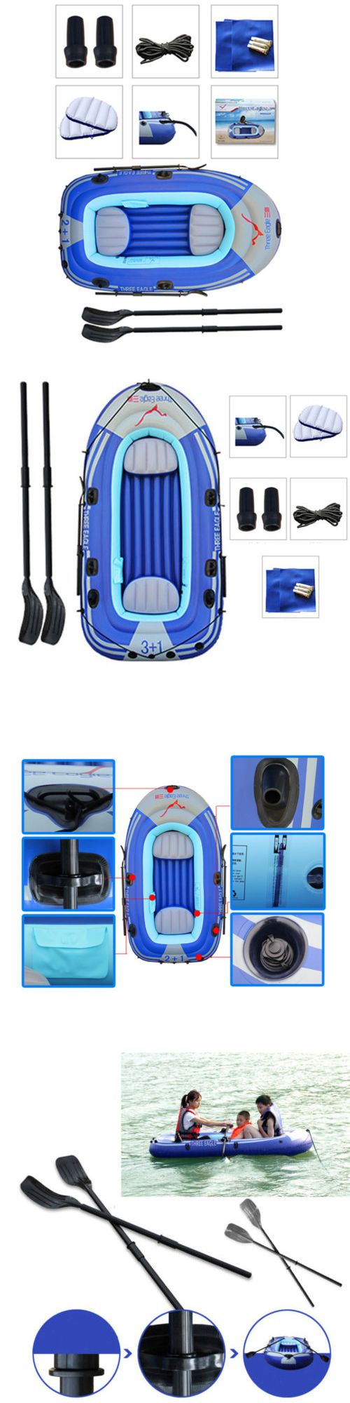 Inflatables 87090: 3 Person 7.7Ft Inflatable Kayak Fishing Raft Pontoon Boat Canoe Dinghy 2 Oars Us -> BUY IT NOW ONLY: $52.07 on eBay!