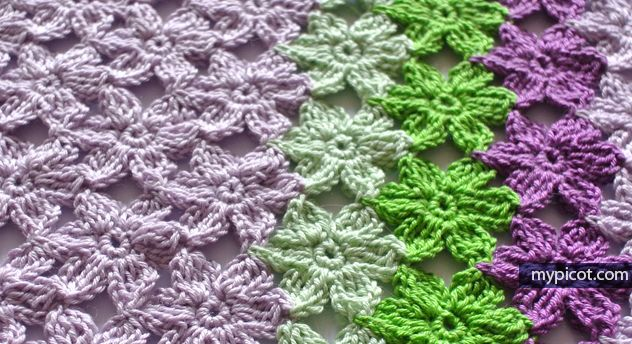 MyPicot | Free crochet patterns - Flower Stitch